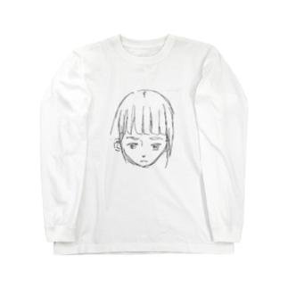 オン眉ぱっつんがーる Long sleeve T-shirts