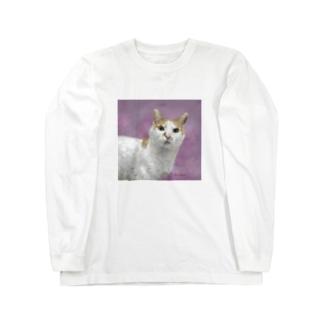 茶白のサウスさん Long sleeve T-shirts