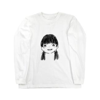 黒髪Girl Long sleeve T-shirts