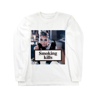 U moreのSmoking Kills Long sleeve T-shirts