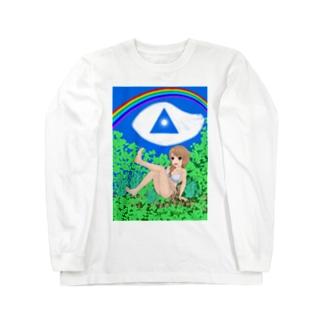 虹と空と森林浴 Long sleeve T-shirts