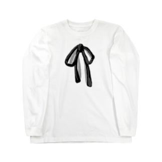 シンプルリボン Long sleeve T-shirts