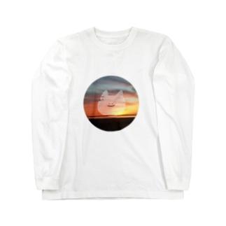ぽいねこゆうやけろんぐてぃーしゃつ Long sleeve T-shirts