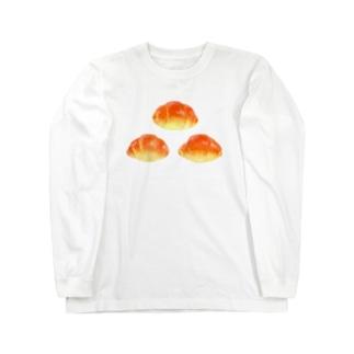 イラストによる食卓。3つのロールパン Long sleeve T-shirts