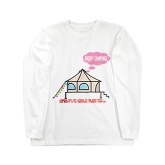 エンジョイキャンプテント茸 Long sleeve T-shirts
