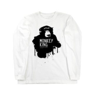 MONKEY KING_BLACK Long sleeve T-shirts