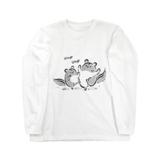 ももんがもん(墨)~宴の舞~ Long sleeve T-shirts