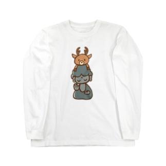 鹿と大仏さん Long sleeve T-shirts