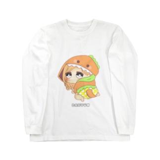 ダヒョン 着ぐるみ赤ちゃんキャラ Long sleeve T-shirts