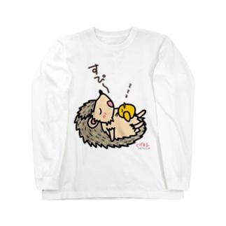 お昼寝とげ&ぴよ Long sleeve T-shirts