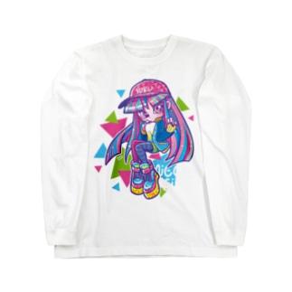 ネオンガール Long sleeve T-shirts