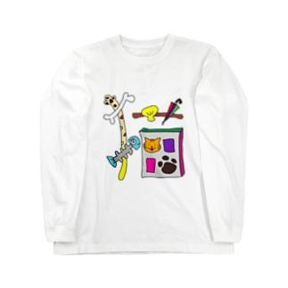イラスト文字『猫』 Long sleeve T-shirts