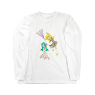 ハリセンアタック Long sleeve T-shirts