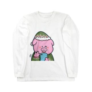 ぶたさん Long sleeve T-shirts