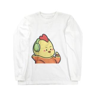 ピカロンのにわとりさん Long sleeve T-shirts