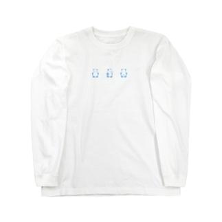 くるりんぱんだ(Blue) Long sleeve T-shirts