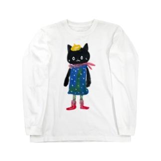 ねこびとさん(Pippi) Long sleeve T-shirts