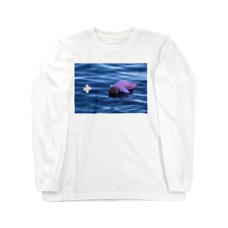 Drowning Baby かわいいあかちゃん Long sleeve T-shirts