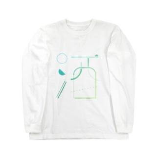 SAKE - China Blue (MOJI)  Long sleeve T-shirts