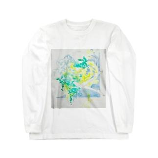 夏の日の水と泳ぐ Long sleeve T-shirts