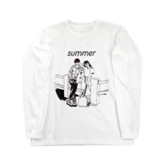 じゃ、夏なんで Long sleeve T-shirts