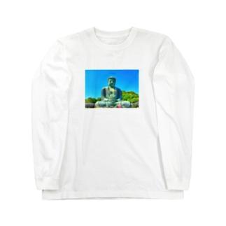 大仏様 Long sleeve T-shirts