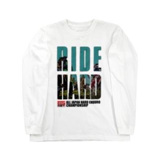 G-NET OFFICIAL GOODS RIDE HARD START 淡色用 Long sleeve T-shirts