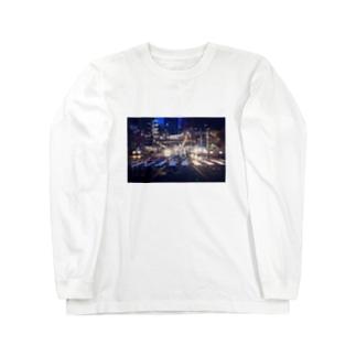 しんじゅくやけい Long sleeve T-shirts