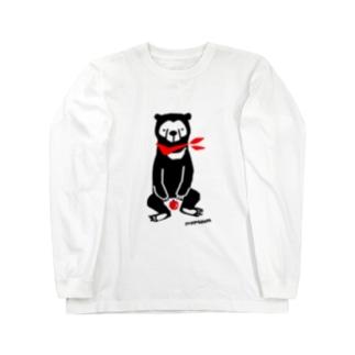 マレーグマとりんご Long sleeve T-shirts