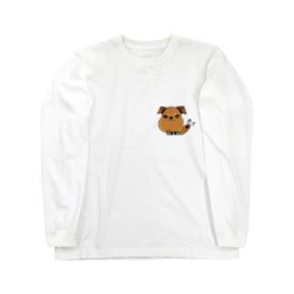 蘭丸goods(ブリュッセルグリフォン) Long sleeve T-shirts