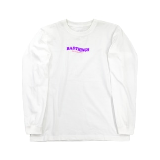 BADTHINGS LOGO GOODS Long sleeve T-shirts