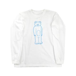 【ゆっきー×うめぼし】脱力くまさん(白)【コラボアイテム】 Long sleeve T-shirts