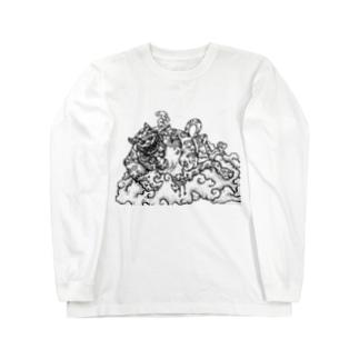 猫も杓子も Long sleeve T-shirts