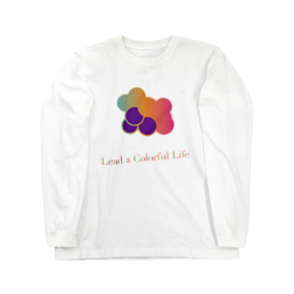 DEEPDRILLEDWELL@井戸の中のColorful Grapes ver2.0 Long sleeve T-shirts