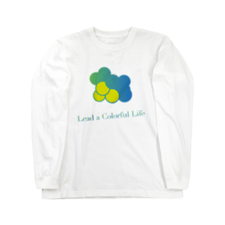 DEEPDRILLEDWELL@井戸の中のColorful Grapes Long sleeve T-shirts