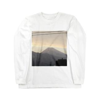 富士山 Long sleeve T-shirts