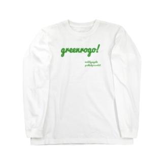 緑ロゴ 可愛いサコッシュ Long sleeve T-shirts