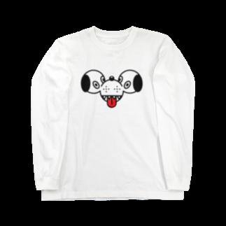 BOROKASU DESIGNのオルトロス face    Black line Long sleeve T-shirts