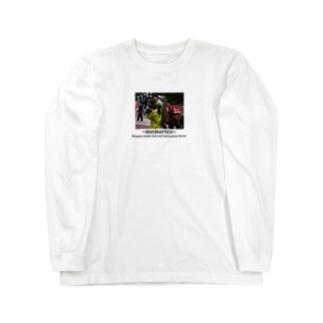 競馬イラスト 女性厩務員と誘導馬 Long sleeve T-shirts