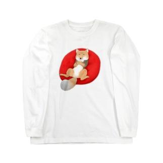 チベットスナギツネ Long sleeve T-shirts