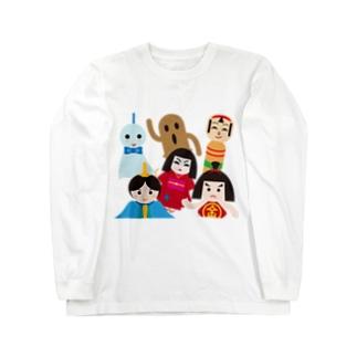 日本の人形ALL-hina doll and dolls of the world-お雛はんと世界の人形たち- Long sleeve T-shirts