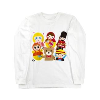 世界の人形ALL-hina doll and dolls of the world-お雛はんと世界の人形たち- Long sleeve T-shirts