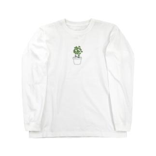 草生えた Long sleeve T-shirts