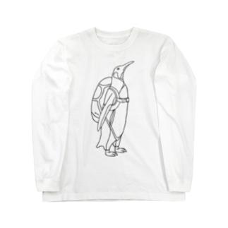 ペンギン スカイダイビング Long sleeve T-shirts