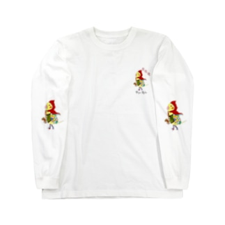 ROBOBO オカメインコ「ポポロボ」 Long sleeve T-shirts