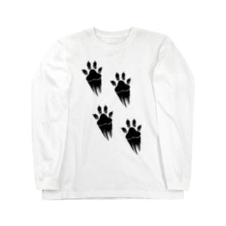 走り抜ける犬 Long sleeve T-shirts