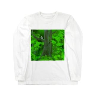 シマフクロウの森 Long sleeve T-shirts
