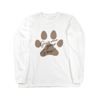 Give me your Paw! 肉球シリーズ Long sleeve T-shirts