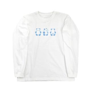くるりんぱんだ(大)(Blue) Long sleeve T-shirts