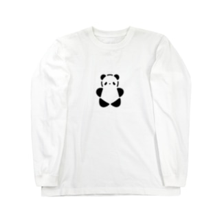 SIROPANDAワンポイント(大)(Black) Long sleeve T-shirts